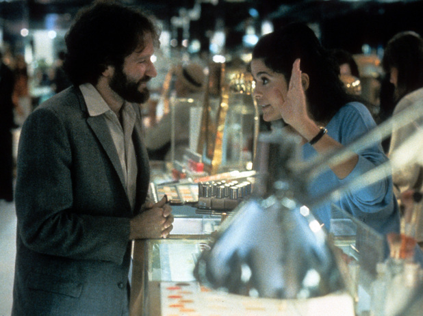 Robin Williams and Maria Conchita Alonso in Moscow on the Hudson (1984)