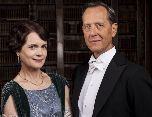 Elizabeth McGovern as Cora, Countess of Grantham & Richard E Grant as Simon Bricker in Downton Abbey series 5 launch picture