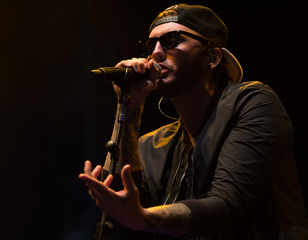 James Arthur performing at the V Festival 2014