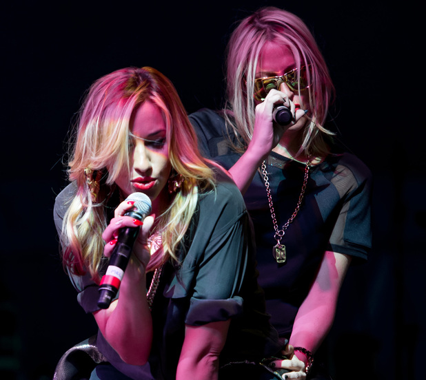 Nicole Appleton and Melanie Blatt of All Saints of All Saints perform on Day 1 of V festival 2014