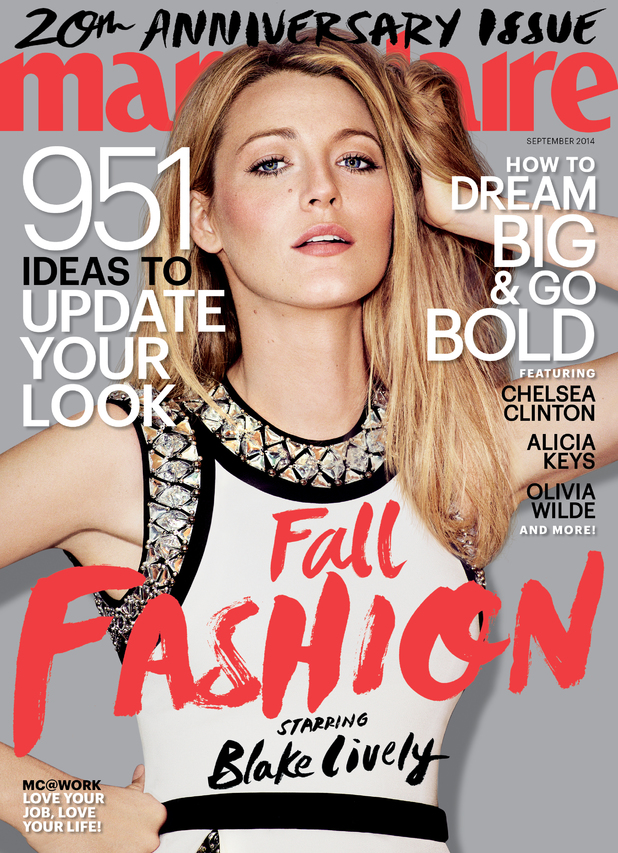 Blake Lively covers the September issue of Marie Claire