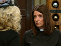 Harriet jumps to Ashley's defense at The Woolpack in tonight's double bill.
