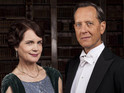 The first picture of Richard E Grant as Simon Bricker is in the promo snaps.