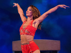 Amelle Berrabah suffers aerial cartwheel mishap on BBC One's Tumble
