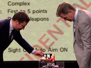 Pierce Brosnan play GoldenEye on N64 with Jimmy Fallon