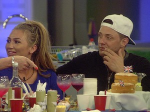 Lauren Goodger and Ricci Guarnaccio on Celebrity Big Brother