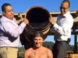 David Beckham completes the ALS Ice Bucket challenge