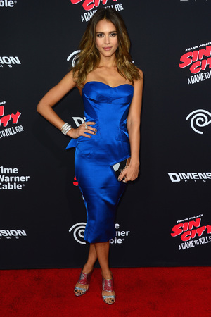HOLLYWOOD, CA - AUGUST 19: Actress Jessica Alba arrives at the Premiere of Dimension Films' 'Sin City: A Dame To Kill For' at TCL Chinese Theatre on August 19, 2014 in Hollywood, California. (Photo by Frazer Harrison/Getty Images)