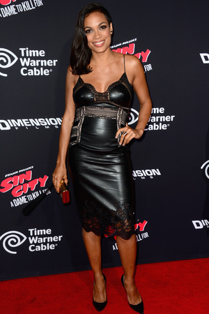 HOLLYWOOD, CA - AUGUST 19: Actress Rosario Dawson attends Premiere of Dimension Films' 'Sin City: A Dame To Kill For' at TCL Chinese Theatre on August 19, 2014 in Hollywood, California. (Photo by Frazer Harrison/Getty Images)