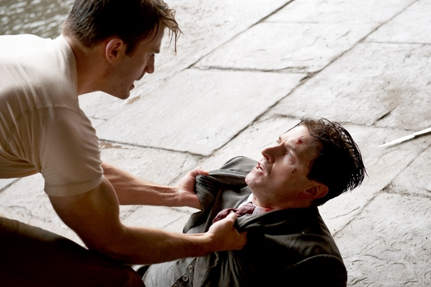 Chris Evans and Richard Armitage in Captain America: The First Avenger