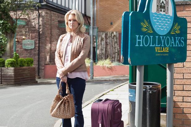Sandy prepares to leave the village