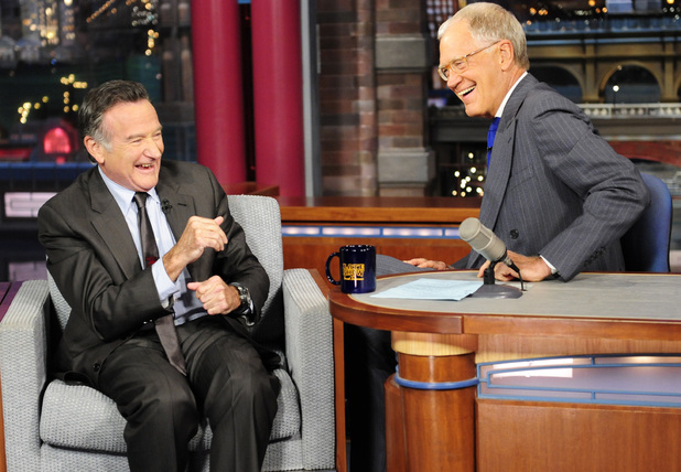 Robin Williams appears on The Late Show with David Letterman