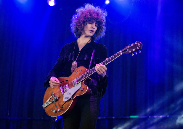 James Edward Bagshaw of Temples performs on Day 2 of the Leeds Festival at Bramham Park