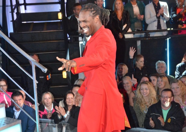 Audley Harrison enters the Celebrity Big Brother house