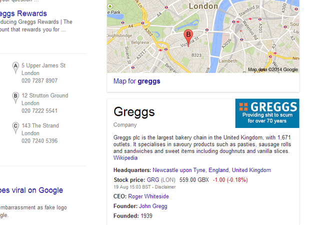 Greggs with dodgy logo