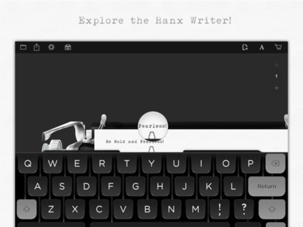 Hanx Writer app for iOS