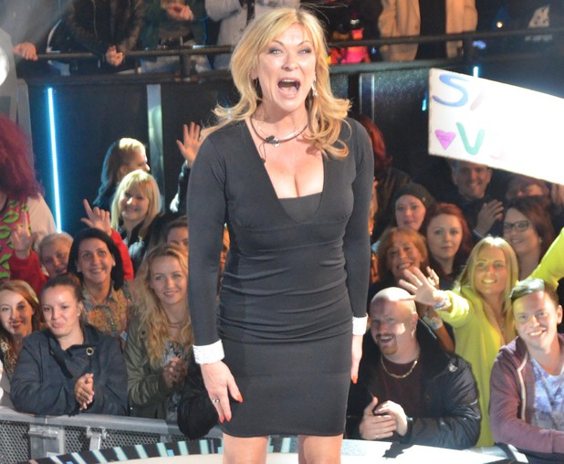 Claire King enters the Celebrity Big Brother house