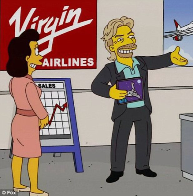 Richard Branson in The Simpsons