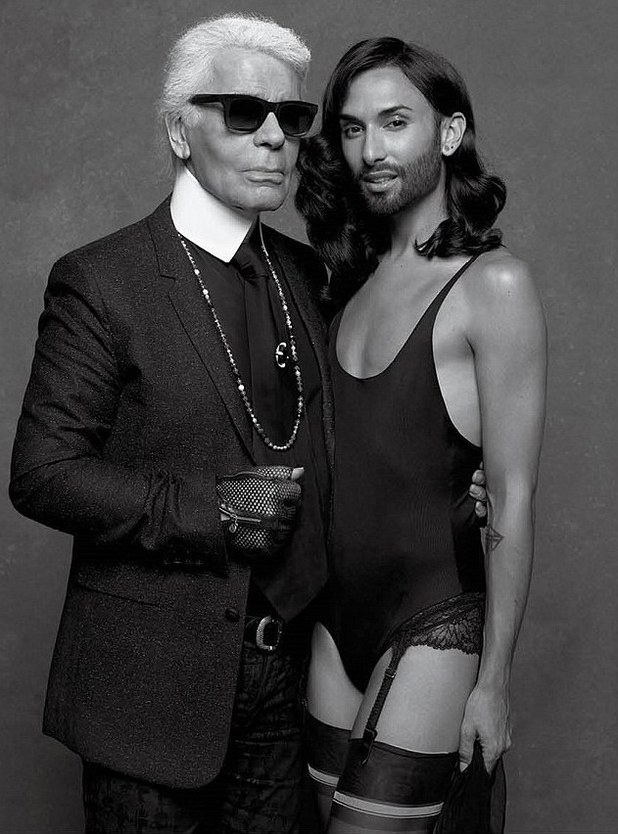 Conchita Wurst, Karl Lagerfeld CR Fashion Book