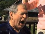 George W Bush takes part int he ice bucket challenge