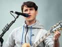Ezra Koenig meets Triumph the Insult Comic Dog in the clip.