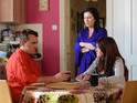 Stacey forces Alfie to come clean with Kat next week.