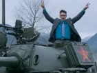 Watch James Franco ride in a tank in new trailer for The Interview