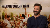 Jon Hamm fields a pitch for a Mad Men spinoff centred around a Roger Sterling entitled Roger That! and discusses his new movie Million Dollar Arm.