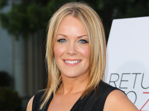 Andrea Anders attends the premiere of 'Return To Zero' at the Paramount Theater