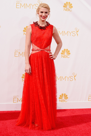 Claire Danes attends the 66th Annual Primetime Emmy Awards