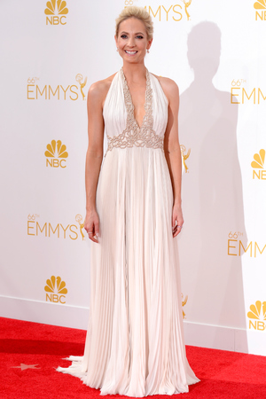 LOS ANGELES, CA - AUGUST 25: 66th ANNUAL PRIMETIME EMMY AWARDS -- Pictured: Actress Joanne Froggatt arrives to the 66th Annual Primetime Emmy Awards held at the Nokia Theater on August 25, 2014. (Photo by Kevork Djansezian/NBC/NBC via Getty Images)
