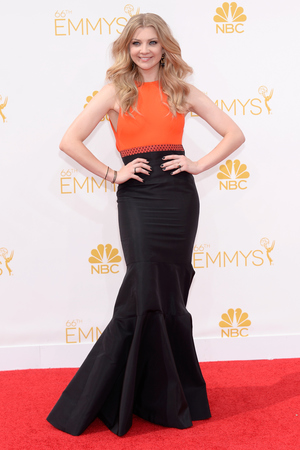 LOS ANGELES, CA - AUGUST 25: 66th ANNUAL PRIMETIME EMMY AWARDS -- Pictured: Actress Natalie Dormer arrives to the 66th Annual Primetime Emmy Awards held at the Nokia Theater on August 25, 2014. (Photo by Kevork Djansezian/NBC/NBC via Getty Images)