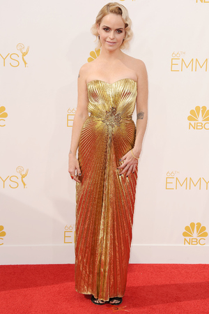 LOS ANGELES, CA - AUGUST 25: Actress Taryn Manning attends the 66th annual Primetime Emmy Awards at Nokia Theatre L.A. Live on August 25, 2014 in Los Angeles, California. (Photo by Jason LaVeris/FilmMagic)