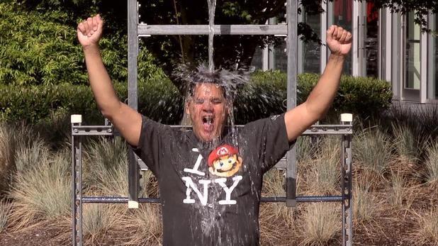 Nintendo's Reggie takes the Ice Bucket Challenge