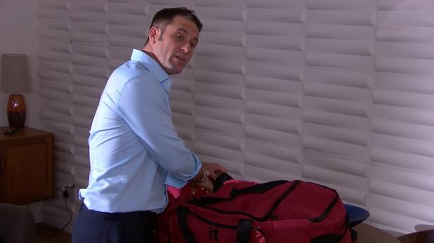 Tony packs his bags