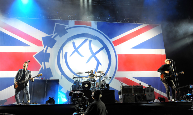 Blink 182 perform at Reading Festival 2014
