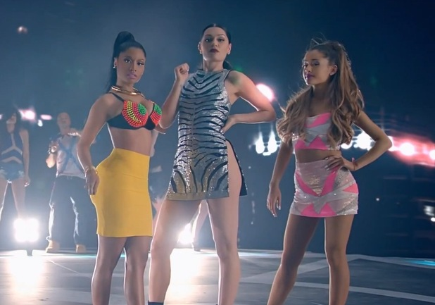 Jessie J, Ariana Grande, Nicki Minaj 'Bang Bang' music video.