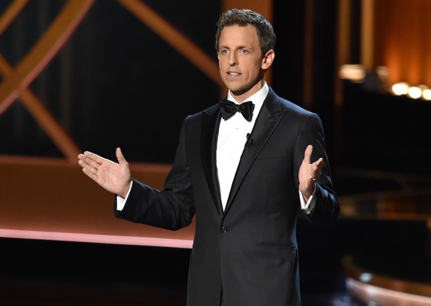 Seth Meyers hosts the 66th Emmy Awards