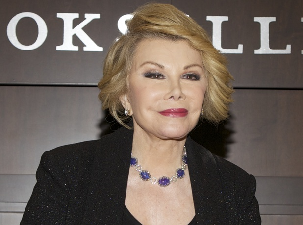 Joan Rivers attends a book signing for her book 'Diary Of A Mad Diva' at Barnes & Noble bookstore