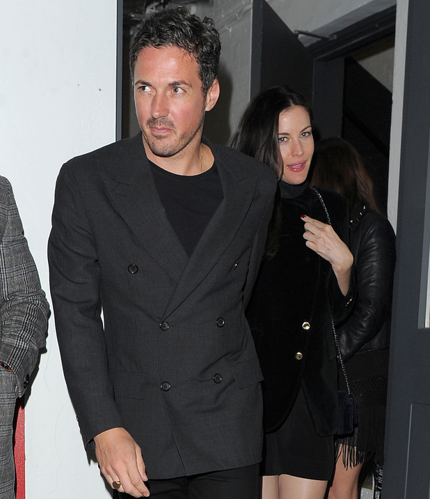 Liv Tyler with her son Milo and new love Dave Gardner at Nick Grimshaw birthday shoreditch house
