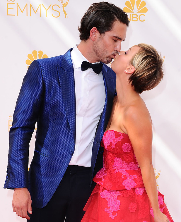 The 66th Annual Primetime Emmy Awards, Arrivals, Los Angeles, America - 25 Aug 2014 Kaley Cuoco and Ryan Sweeting 25 Aug 2014