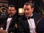 Kimmel's Guillermo, Cranston rub moustaches