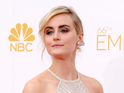 LOS ANGELES, CA - AUGUST 25: 66th ANNUAL PRIMETIME EMMY AWARDS -- Pictured: Actress Taylor Schilling arrives to the 66th Annual Primetime Emmy Awards held at the Nokia Theater on August 25, 2014. (Photo by Kevork Djansezian/NBC/NBC via Getty Images)