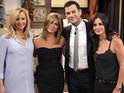 Rachel, Monica and Phoebe are back for a brief sketch on Jimmy Kimmel Live.