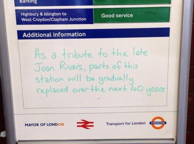 Joan Rivers TFL tribute