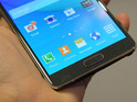 Samsung unveils handset with 5.7-inch screen at IFA technology show in Berlin.