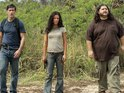 Matthew Fox as Jack, Evangeline Lilly as Kate and Jorge Garcia as Hurley in Lost season 6