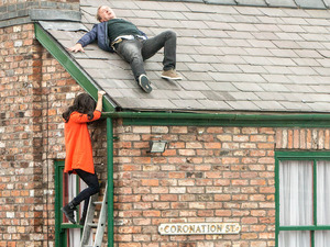 Andrea joins Neil on the Rovers roof