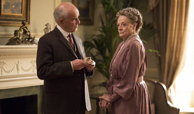 Maggie Smith as Violet, Dowager Countess of Grantham in Downton Abbey series 5 premiere
