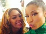 Nicki Minaj and Beyoncé at Paris On The Run show